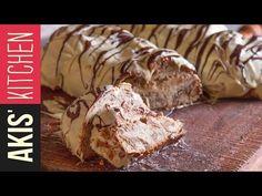 Greek Chestnut sweet bread with white chocolate coating - Tsoureki by Greek chef Akis Petretzikis. A traditional Greek recipe for sweet bread with chocolate! Tsoureki Recipe, Vasilopita Recipe, Greek Desserts, Greek Recipes, Fun Desserts, Pastry Recipes, Cooking Recipes, Greek Easter Bread, Festive Bread