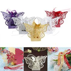 Cheap candy gift box, Buy Quality box with ribbon directly from China wedding party Suppliers: Wedding Party Sweet Favor Butterfly Paper Candy Gift Boxes With Ribbon Sweet Wedding Favors, Wedding Favor Boxes, Candy Gift Box, Gift Boxes, Wedding Events, Wedding Ceremony, Weddings, Paper Candy, Seaside Wedding