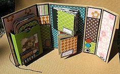mini album idea - several minis within a mini Scrapbooking Album, Scrapbook Pages, Mini Album Scrapbook, Mini Albums Scrap, Album Photo, Mini Photo Albums, Memory Books, Chipboard, Google Translate