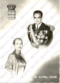Princess Grace and Prince Rainier of Monaco - April 19, 1956