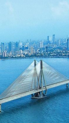 #Mumbai, Maharashtra, India. - Sea Link Bridge.  http://www.hotel-booking-in.com/mumbai-hotels.html