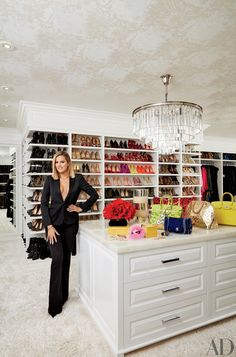 Khloé's crazy-organized master closet might just beat out Mariah | An Unprecedented Look Inside Kourtney and Khloé Kardashian's Jaw-Dropping Homes | POPSUGAR Home