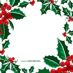 Square Christmas frame or background made from mistletoe illustrations. Designed with bright green leaves and red fruits. Christmas Leaves, Christmas Border, Christmas Background, Christmas Cards, Christmas Decorations, Xmas, Poinsettia Cards, Frame Clipart, Christmas Paintings