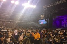 By the time you make it to your seats the energy in the stadium filled with over 60,000 people is so electric that you find it hard to catch your breath. It's a sea of Swifties and it is BEAUTIFUL. | 22 Times You'll Die During Taylor Swift's 1989 World Tour