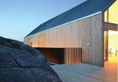Bilderesultat for sink tak pris Bergen, Green Architecture, House Extensions, Malm, House In The Woods, Garage Doors, Villa, Exterior, House Design