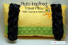 Pluto inspired travel pillow-  FREE Tutorial and Pattern by @jenirodesigns   -  Features Kozy Cuddle http://www.shannonfabrics.com/cuddle/solids