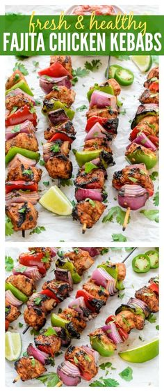 Grilled Fajita Chicken Kebab
