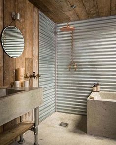 Instagram picture - #loft.industry. I would love a shower like This in the cabin.