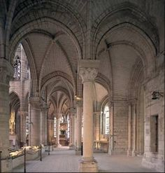 Ambulatory and chapels, Abby church, Saint-Denis, France, 1140-1144