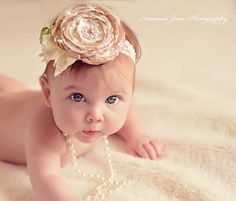 Gorgeous ivory and pearl feather flower vintage style headband on ivory lace headband/or clip. - pinned by pin4etsy.com