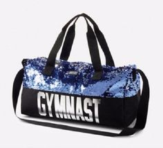 Justice Girl's GYMNAST SEQUIN Purple Duffle SPARKLE Tote Bag Christmas Gift NWT #Justice Gymnastics Bags, Gymnastics Stuff, Gymnastics Outfits, Gymnastics Leotards, Justice Bags, Really Cute Outfits, Cheer Outfits, Kids Line, Christmas Bags