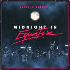 "Album cover artwork for Seventh Element's forthcoming album ""Midnight in Equestria"""