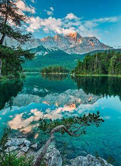 Fototapete »Mirror Lake«, 4-teilig
