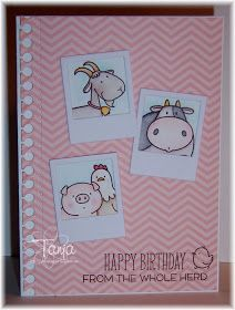 Stampin'Piper: Happy Birthday from the whole Herd