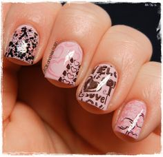 A Girl and Her Polish: Digit-al Dozen Does: Music - True Love - Pink