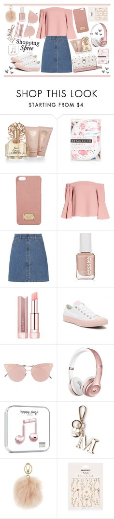 """""""Shopping Spree"""" by monique-joanne ❤ liked on Polyvore featuring Vince Camuto, Skinnydip, Michael Kors, Topshop, Miu Miu, Essie, Converse, So.Ya, Furla and Paperself"""