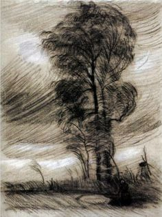 Landscape in Stormy Weather - Vincent van Gogh
