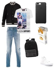 """Brian"" by miumiudeleeuw on Polyvore featuring Off-White, Diesel, Vans, duty free and Plein Sport"