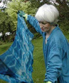Clarissa Cochran - Shibori -  Hand Dyed Indigo Silks and Workshops