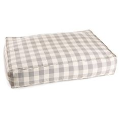 Check out this item at One Kings Lane! Gray Buffalo Check Bed