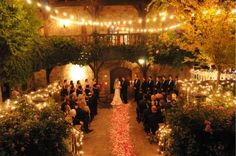 Outdoor Night Wedding | outdoor wedding at night in courtyard | Taylor's Wedding