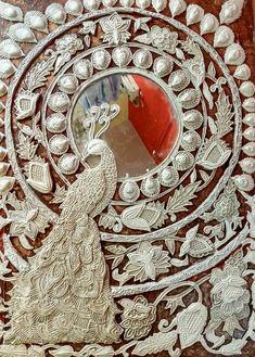 Lotus Painting, Mural Painting, Mural Art, Texture Painting, Krishna Painting, Madhubani Painting, Clay Wall Art, Clay Art, Peacock Art