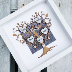 Items similar to Family tree frame 25 Wedding Anniversary Gifts, Color Of The Week, Family Tree Frame, Picture Gifts, Personalized Gifts, Handmade Gifts, Diy Home Decor Projects, Crushed Velvet, Home Gifts