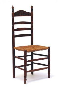 De knopstoel met biezen zitting is een oertype dat in Brabantse-, Oud Hollandse- en Drentse varianten bestaat. Vanaf de 17e eeuw en tot ver in de tachtiger jaren van de twintigste eeuw komt deze stoel in veel Nederlandse huishoudens voor. De stoel ontleent zijn naam aan gedraaide knoppen bovenaan de rugleuning. In rijkere uitvoeringen werden er meerdere knoppen in de achterleuning gedraaid.