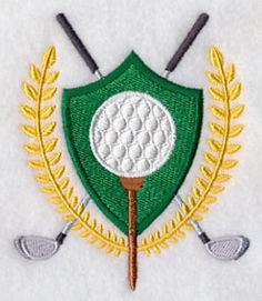 Golf Crest design (H7195) from www.Emblibrary.com