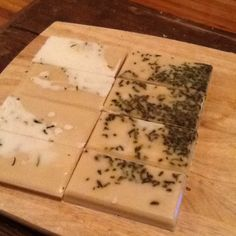 Eucalyptus Green Tea soap recipe. And so many other simple melt and pour soap recipes. I love this site!