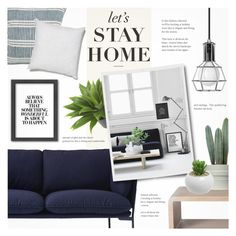 """""""Let's Stay Home..."""" by alexandrazeres ❤ liked on Polyvore featuring interior, interiors, interior design, home, home decor, interior decorating, WALL, Nearly Natural, &Tradition and McGuire"""