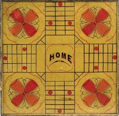 Antique Painted Parcheesi Gameboard (7) sold by Northeast Auctions