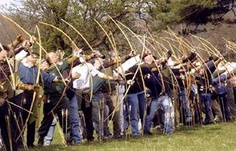 Imagine how lethal a volley of high speed arrows would cause on a large group of soldiers...the damage would be terrible. That was why te longbow was so feared when it was first invented.  Image detail for -... English Yew tree to made longbows which were the biggest threat to the