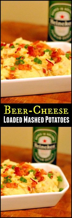 I can absolutely not stop myself from eating these Beer-Cheese Mashed Potatoes!  They are addictive!  Beer-Cheese anything is my favorite!