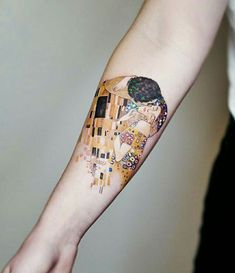 Gustav Klimt, «The Kiss» Tattoo