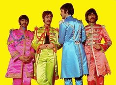 The Colorful 1960's -  John Lennon, Paul McCartney, Ringo Starr and George Harrison