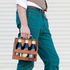 Handmade Wood 6-Pack Carrier