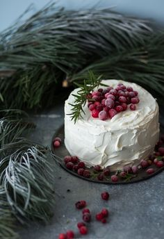 Cranberry White Chocolate Layer Cake: By Modern Taste