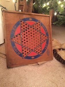 Vintage Primitive Wood Diamond Games Chinese Checkers Board  | eBay