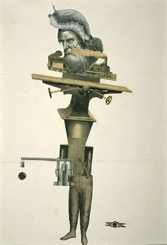 Untitled Exquisite Corpse by André Breton, Jacqueline Lamba, and Yves Tanguy, 1938. Collage on paper
