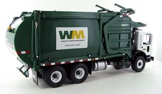 Trucks, FIRST GEAR, Waste Management Mack TerraPro Front Load Refuse Truck with Bin This model features: Diecast metal construction Tilt forward cab with complete engine detail Fully detailed cab interior Functioning front load arms Dump Trailers, Garbage Truck, Emperor, Diorama, Diecast, Tractors, Gears, Arch, Scale