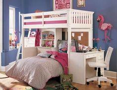 8 Year Old Girls Bedroom On Pinterest Leaning Shelves Shared ...