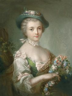 Marquise de Pompadour, 1721-1764. Love the rococo colors green and blush pink!