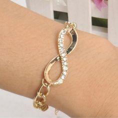 Wholesale Women's Gold Plated Crystal Cuff Bangle Charm Chain Infinity Bracelet | Jewelry & Watches, Fashion Jewelry, Bracelets | eBay!