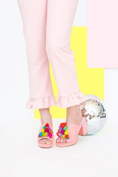 9f21671ca7573 DIY Tassel Mule Sandals. Mule SandalsMules ShoesWomen s ...