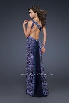 5b98e56f57 La Femme 17049 at Prom Dress Shop Animal Print Dresses