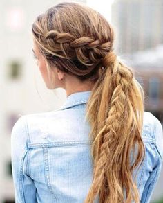 long+messy+pony+with+a+braid