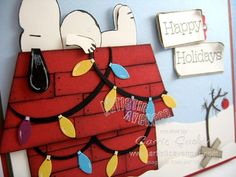 Charlie Brown Christmas - snoopy - punch art - bjl
