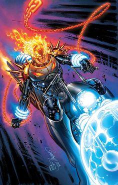 Cosmic Ghost Rider J Scott Campbell Variant Marvel Comics 2018 Marvel Comic Character, Comic Book Characters, Marvel Characters, Ghost Rider 2, Ghost Rider Marvel, Ghost Rider Wallpaper, Marvel Wallpaper, Marvel Comics, Marvel Heroes