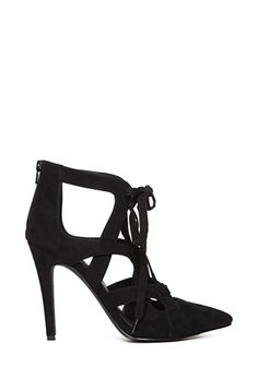 Faux Suede Lace-Up Heels | FOREVER21